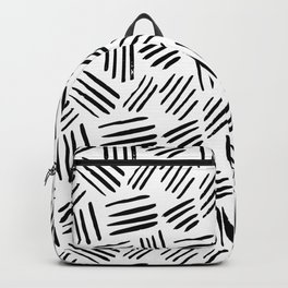Abstract black white watercolor brushstrokes motif Backpack