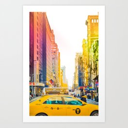 Colors of New York City Downtown Manhattan Art Print