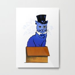 Frazier the Sir in a Box Metal Print