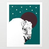Buffalo dreams Art Print