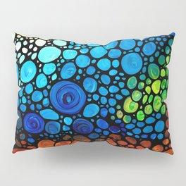 One Fine Day - Colorful Landscape Painting by Sharon Cummings Pillow Sham