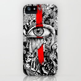Red inked Eye iPhone Case
