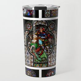 Stained Glass Windows Collage Travel Mug