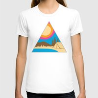 camping T-shirts featuring Camping by Wendy Ding: Illustration