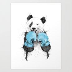 the winner Art Print