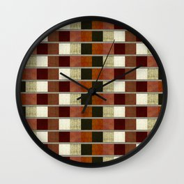 """Retro Abstract Squares Pattern"" Wall Clock"
