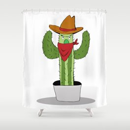 Cowboy Cactus Shower Curtain