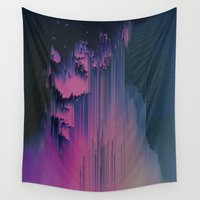 fringe Wall Tapestries featuring Pink Fringe by DuckyB