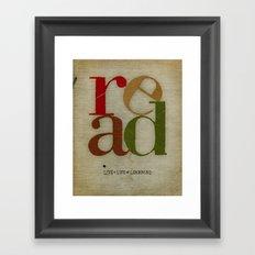 read love Framed Art Print
