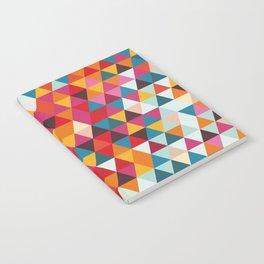 Vintage Summer Color Palette - Hipster Geometric Triangle Pattern Notebook