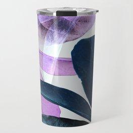 Blue Violet Leaves Travel Mug