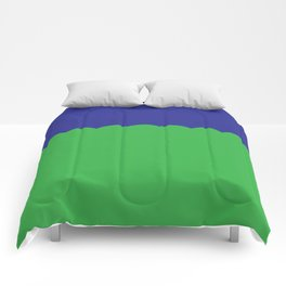 Scalloped - Kelly Green & Navy Comforters