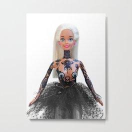 Tattooed Barbie Metal Print