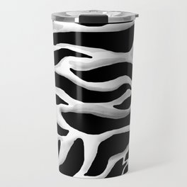 Black and white, abstract zebra, animal print Travel Mug