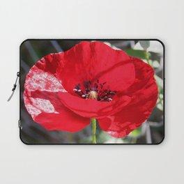 Single Red Poppy Flower  Laptop Sleeve