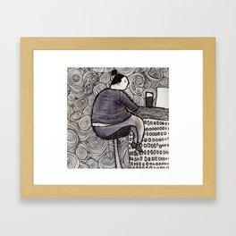 CafeLady Framed Art Print