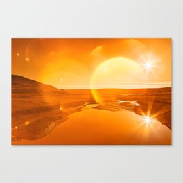 Twin Suns of Point Reyes - Gold Bokeh Bliss Canvas Print