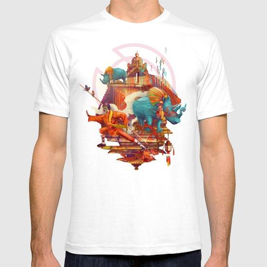 rhinos stone T-shirt