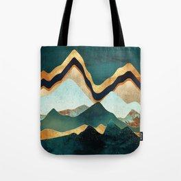 Velvet Copper Mountains Tote Bag