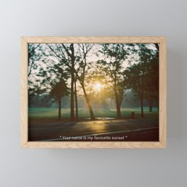 your name is my favourite sunset Framed Mini Art Print