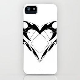 Shadowhunters rune silhouette and tribal heart - Parabatai - Malec iPhone Case