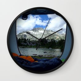 Tent View Wall Clock