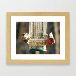 Bird share Framed Art Print