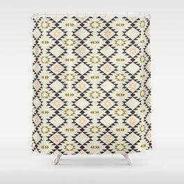 Golden Brown Pink - Navajo  Shower Curtain