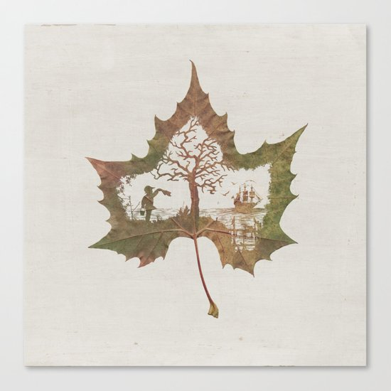 A Fall Story Canvas Print