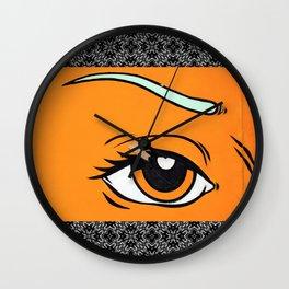 Eye orange 4 Wall Clock