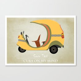 Coco Taxi - Cuba in my mind Canvas Print
