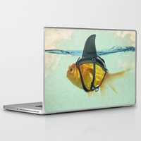 shark Laptop & iPad Skins featuring Brilliant DISGUISE by Vin Zzep