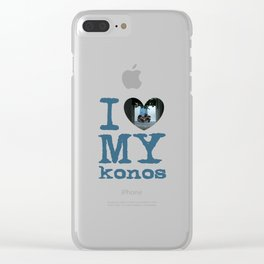 Love Mykonos Clear iPhone Case
