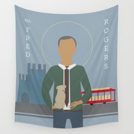 Mr. Rogers Icon Wall Tapestry