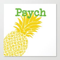 psych Canvas Prints featuring Minimalist Psych  by Canis Picta