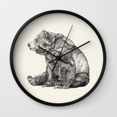 Bear // Graphite Wall Clock