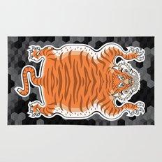 TIBETAN TIGER GOLDEN (black) Rug