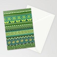 Yzor pattern 009 green-blue summer Stationery Cards