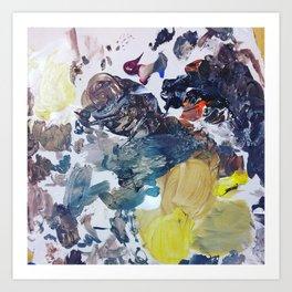 Paint Mess Art Print