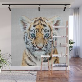 Baby Tiger - Colorful Wall Mural
