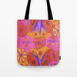 Bohemian Summer Vibes Abstract Tote Bag