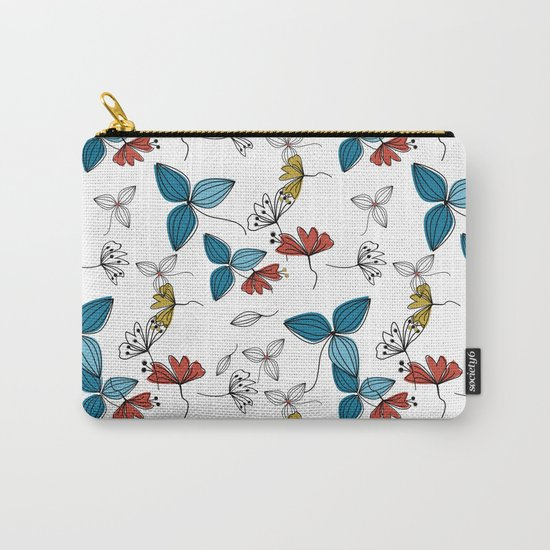 The floral pattern . Carry-All Pouch