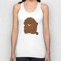 beaver Tank Tops featuring Bushy Beaver by Lesbian Emojis