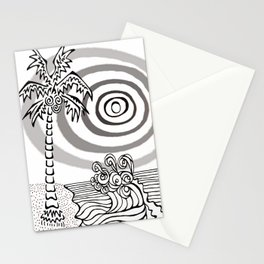Palms and Waves Stationery Cards