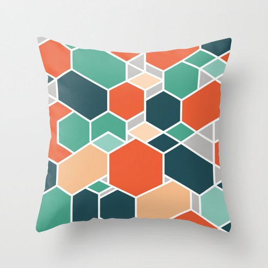 Hex P Throw Pillow