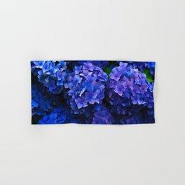 Royal Blue Hydrangea Flowers In Bloom Hand & Bath Towel