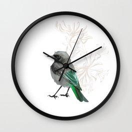 Grumpy Junco Bird Wall Clock