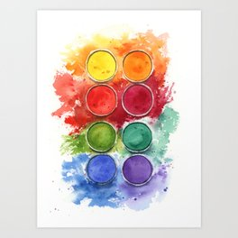 Watercolor palette Art Print
