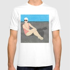 Poolside White MEDIUM Mens Fitted Tee