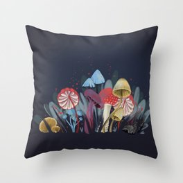 Wild Mushrooms Throw Pillow